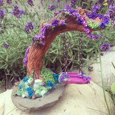 Fairy Swing. Sculpture Clay, Sculptures, Polymer Clay Creations, Sculpting, Fairy, Crafting, Sculpture, Crafts To Make, Crafts