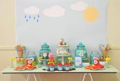 peppa the pig boy party table