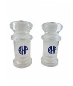 Monogrammed Acrylic Salt and Pepper Shakers