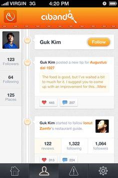 Clean, orange, and I like the slider dots Ui Design Patterns, Ui Ux Design, Pattern Design, Good To Great, Ui Design Inspiration, Mobile Design, Mobile Ui, New Tricks, App Development