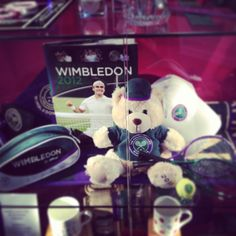 The Wimbledon Experience Merchandise Cabinet Display Wimbledon 2012, Wimbledon Tennis, Tennis Tournaments, Tennis Clubs, Lawn Tennis, The Championship, Old Things, Teddy Bear, Display