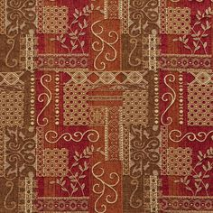 Sangria Brown and Burgundy Modern Artistic Geometric Elegant Chenille Upholstery Fabric