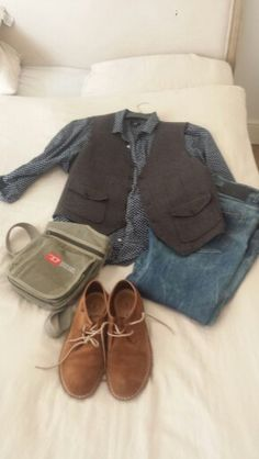 Mixing it up with Diesel Jeans, Clarks Shoes, H@M Shirt, John Rocha Waistcoast and Diesel Bag.
