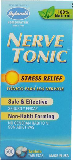 Hyland's Nerve Tonic- Love this stuff! Carry it everywhere with me. Helps with my social anxiety in crowded places, or anytime I'm feeling nervous or anxious, or if I just want a good nights sleep. Safe enough for little kids too. Tiny pills melt under your tongue.