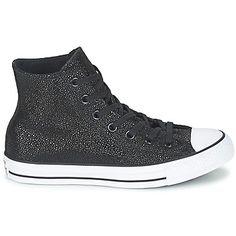 d3b86330643 Basket montante Converse CHUCK TAYLOR ALL STAR CUIR HI Noir Métallique    Blanc 350x350 Convers Chaussure
