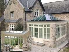 Welcome to the home of the hand-crafted timeless quality hardwood orangery, conservatory, windows and doors. attached to house kitchens House Styles, House Design, Garden Room, Garden Room Extensions, Edwardian House, House, New Homes, Orangery, House Exterior