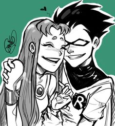 ️awwwww! Teen Justice i mean teen love i mean Teen Titans!! no wait  teen love! lol                                                                                                                                                                                 Mais