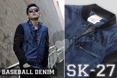 SK-27 Denim Jaket Baseball Style IDR 280.000 CP 0857 4000 0609 / 295 F1 EA9