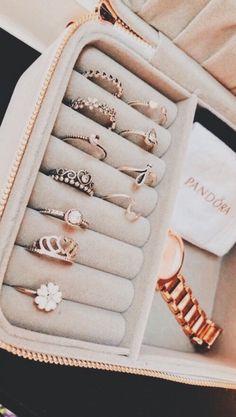 Pandora Jewelry OFF! - >>Pandora Jewelry OFF! Cute Jewelry, Jewelry Rings, Jewelry Box, Jewelry Accessories, Fashion Accessories, Fashion Jewelry, Women Jewelry, Gold Jewelry, Cheap Jewelry