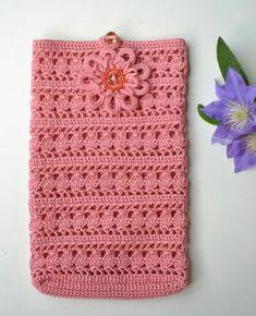 Crochet Unique, Crochet Simple, Crochet Diy, Easy Crochet Projects, Crochet Gifts, Clutch En Crochet, Crochet Pouch, Crochet Purses, Mobiles En Crochet