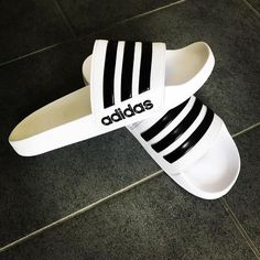 Adidas Adilette Shower Slides White Adidas Us White Adidas Adidas Adilette Stripes Fashion