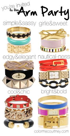 arm parties for every style.