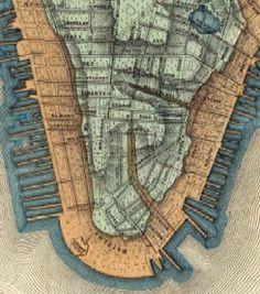 1865 map of Lower Manhattan
