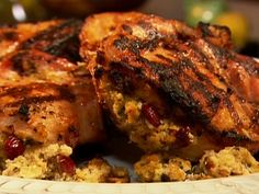 Stuffed Pork Chops Recipe : Patrick and Gina Neely : Recipes : Food Network