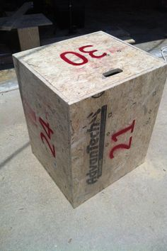 Crossfit multi-height box-jump box
