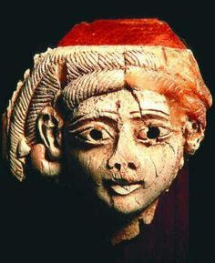 The head of a statuette of a woman, found in Nippur and dated 2500 B.C.