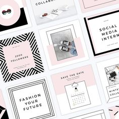 photoshop social media templates girlboss, #Instagram, #pinterest, #affiliate