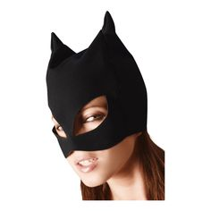 Black cat mask in nubuck leather look, softly roughened. Eyes and mouth non-covered. With polyurethane-coating. Kitty Play, Bad Cats, Bad Kitty, Cat Mask, Catsuit, Black, Products, Role Play, Leather