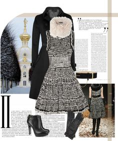 """""""McQ Alexander McQueen The mouline-knit dress"""" by mrs-box ❤ liked on Polyvore"""
