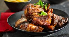 Slow-cooked beef ribs