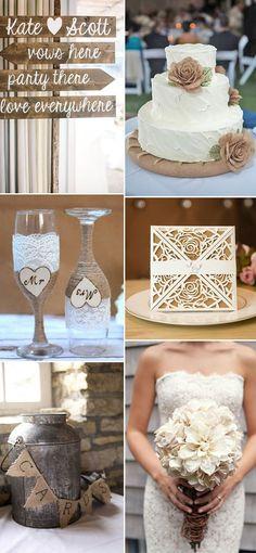 rustic burlap wedding ideas for 2017