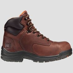 The women's Timberland PRO Titan work boots provide lightweight, durable protection for a wide variety of uses.