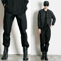 Remember Click Tapered Black Pants BLACK M L Korean Wear #RememberClick #CasualPants