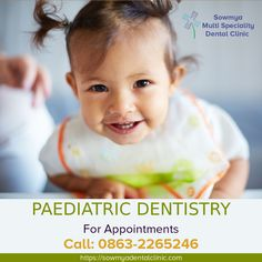 Paediatric Dentistry is a branch of dental science which deals with specialization in children's dental issues and oral problems. Sowmya Multi Speciality Dental Clinic has the best paediatric dentist in Guntur. Oral Health, Health Care, Preventive Dentistry, Dental Kids, Pediatric Dentist, Healthy Living Tips, Pediatrics, Baby Care, Appointments