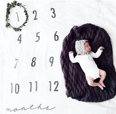 Baby Monthly Milestone Blanket / swaddle blanket / by BATZkids Monthly Baby Photos, Baby Monthly Milestones, Baby Milestone Blanket, Milestone Blankets, Bring Up A Child, Muslin Swaddle Blanket, Fitness Gifts, Gentle Parenting, Baby Grows