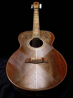 "Blueberry All-Rosewood ""Floral"" Acoustic Jumbo Guitar"