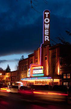 Tower Theater - Downtown Bend Oregon  www.facebook.com/NeonEnergyElement www.pinterest.com/NeonElement www.altairia.com/NeonElement