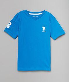 Another great find on #zulily! Blue Tile V-Neck Tee - Kids & Tween #zulilyfinds