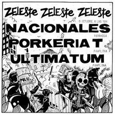 DISTRIBUIDORA 64: V/A – ULTIMATUM / PORKERIA T / NACIONALES LP (Azul) Precio: 14 euros.  Volvemos a Barcelona, en concreto a la sala ZELESTE, mitica sala de conciertos, en el cual A-PRODUCTIONS organizo este pedazo concierto.  Ya a la venta : http://distribuidora64.blogspot.com.es/2016/08/va-ultimatum-porkeria-t-nacionales.html