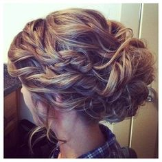 braided updo, nice with vail