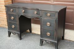 vintage desk with tips on how to prevent stain from bleeding through
