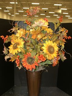 Sunflowers are available in many colors to mix and match...