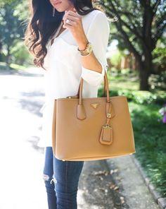Prada- saffiano cuir. Obsessed handbags wallets - http://amzn.to/2ha3MFe