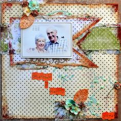 """Dad & Patti"" Layout - Inkido Challenge May 2014"