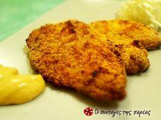 Κοτομπουκιές πανέ στο φούρνο Savoury Dishes, Appetizers, Canning, Meat, Chicken, Finger Food, Recipes, Appetizer