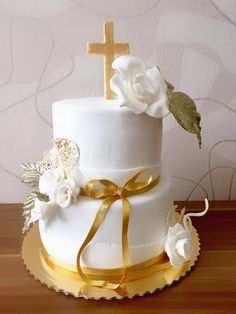 Cake First Communion Cakes, First Holy Communion, Funeral Cake, Religious Cakes, Confirmation Cakes, Birthday Cake Decorating, Gorgeous Cakes, Occasion Cakes, Cute Cakes