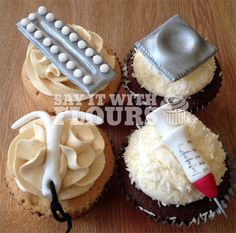 Safe Sex Contraception Cupcakes-- When I finish my Ph.D., I'm totally baking some of these.