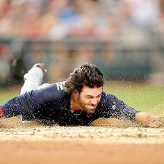 Around the bases in 14.97 seconds? Yup.  Slid head first for an inside-the-park…