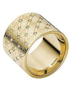 Michael Kors Jewelry, Jewelry Rings, Jewelry Accessories, Jewellery, Gold Jewelry, Jewelry Design, Fashion Rings, Fashion Jewelry, Rings