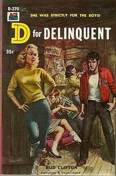 Not how Pagan lived her life, but reminiscent of the lives of some of the girls she encountered in reform school, like big old nasty Susan Mahoney. D for Delinquent 1958