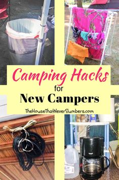 4 Camping Hacks from a Clueless Camper – Make your next camping trip your best ever with these simple camper hacks and tips! Whether you're a newbie camper or a longtime veteran in an RV, you. Camping Snacks, Camping Bedarf, Family Camping, Camping Breakfast, Camping Chairs, Arkansas Camping, Camping Coffee, Camping Hammock, Camping Cooking