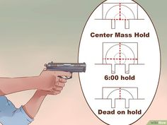 Image titled Aim a Pistol Step 4 Pistol Shooting Tips, Shooting Targets, Shooting Guns, Shooting Range, Archery Targets, Police Gear, Swat Police, Target Practice, Military Guns