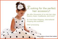 Cute site for childrens hair accessories.