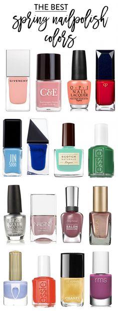 the best spring nail polish shades