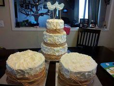 Rustic anniversary cake