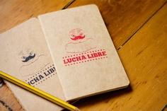 Lucha Libre Notebook Mexican Wrestler Screen Printed Pocket Moleskine Cahier (black or red). $6.50, via Etsy.
